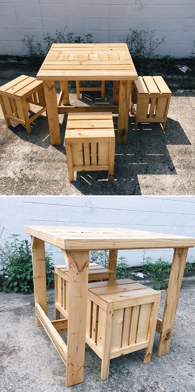 Creativity In Old Pallet Furniture Projects