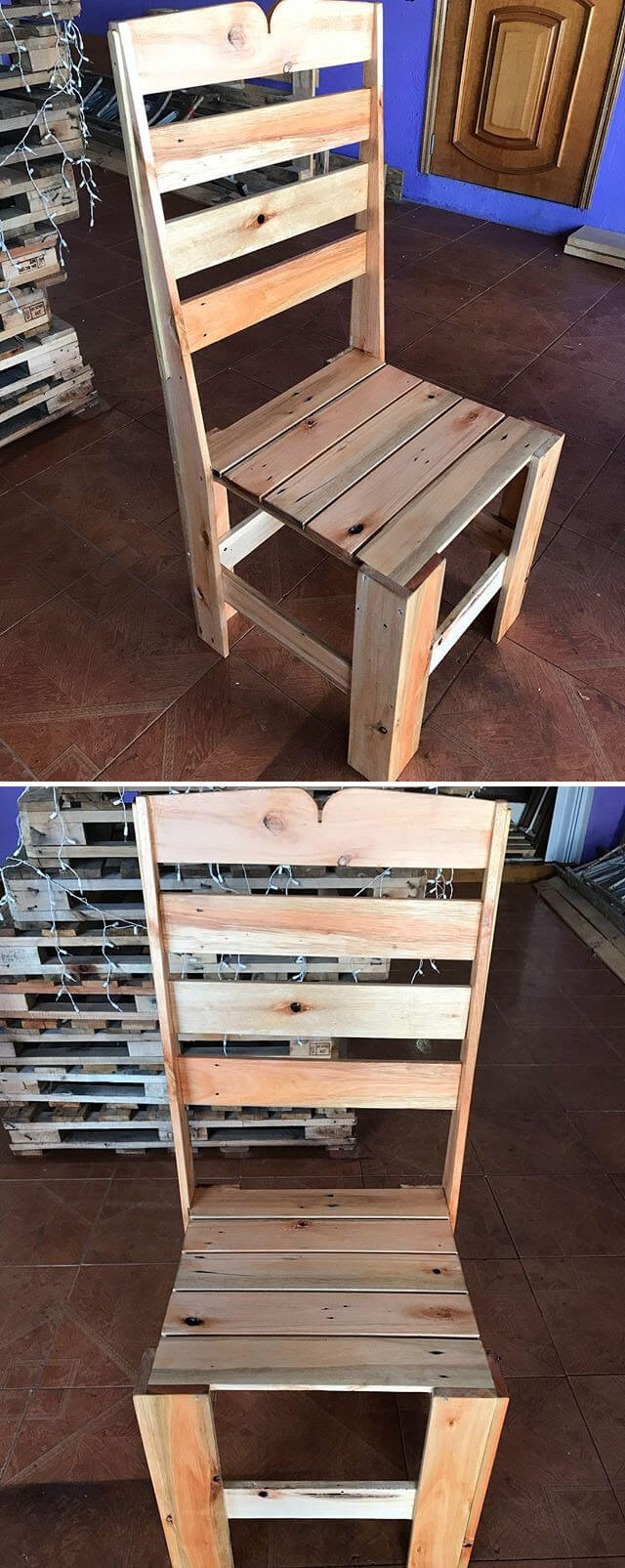beautiful pallet chair project ideas
