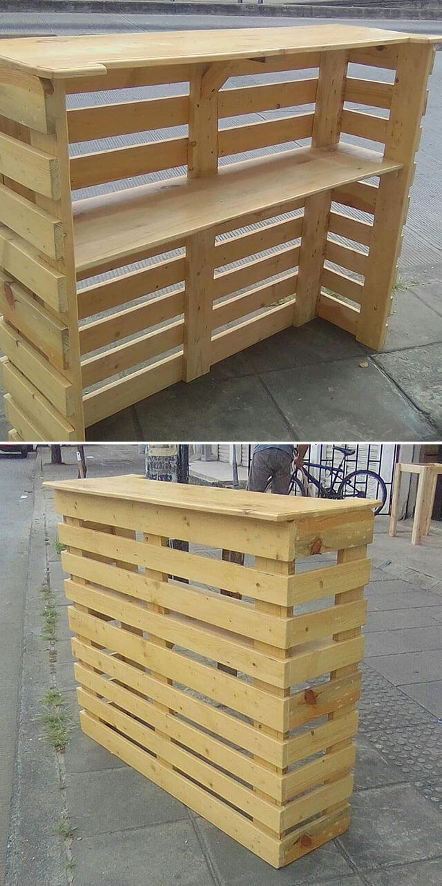 easy pallet bar ideas
