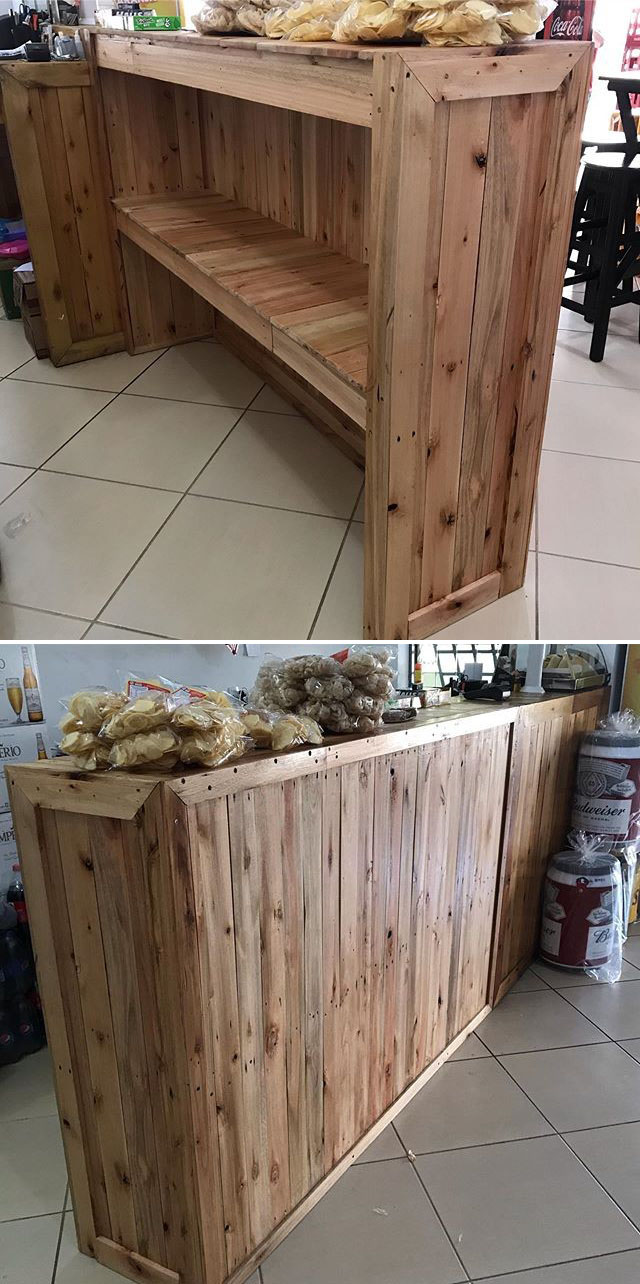 21+ Splendid Pallet Bar Ideas that Occupy Least Space